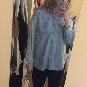 Denim flannel shirt